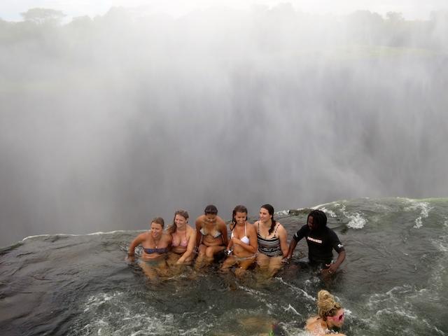 Extreme adventure vacations Victoria Falls Devil's Pool