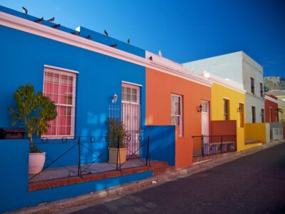 colourful houses in south africa